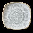STONE GREY SQUARE PLATE 25.5cm