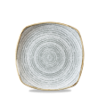 STONE GREY SQUARE PLATE 21.5cm