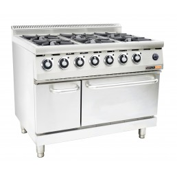 GAS OVEN & GAS STOVE - 6 BURNER